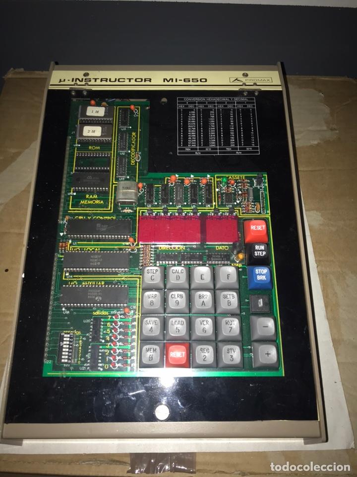 ENTRENADOR PROMAX INSTRUCTOR ELECTRÓNICO MI-650. ELECTRÓNICA MICROPROCESADOR (Antigüedades - Técnicas - Herramientas Profesionales - Electricidad)