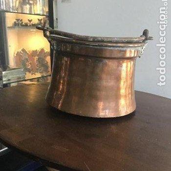 PAREJA DE CALDEROS DE COBRE, PPS. XX. (Antigüedades - Técnicas - Cerrajería y Forja - Forjas Antiguas)