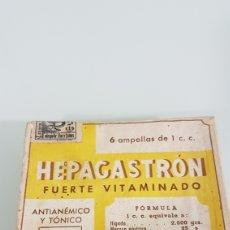 Antigüedades: CAJA VACÍA MEDICAMENTO HEPAGASTRON. Lote 194632356