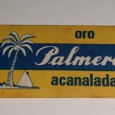 Antigüedades: ANTIGUA CUCHILLA HOJA DE AFEITAR - PALMERA ORO ACANALADA - JUAN VOLLMER AÑOS 50 / 60. Lote 194659018