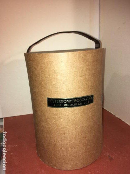 Antigüedades: Estereomicroscopio lupa binocular 20x marca Enosa en caja original. muy bien conservado - Foto 3 - 194674670