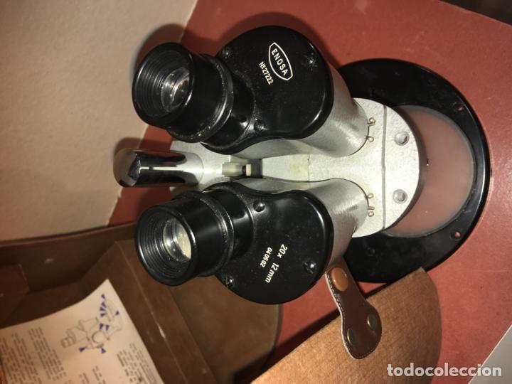 Antigüedades: Estereomicroscopio lupa binocular 20x marca Enosa en caja original. muy bien conservado - Foto 5 - 194674670
