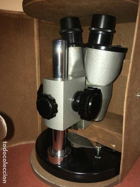 Antigüedades: Estereomicroscopio lupa binocular 20x marca Enosa en caja original. muy bien conservado - Foto 11 - 194674670
