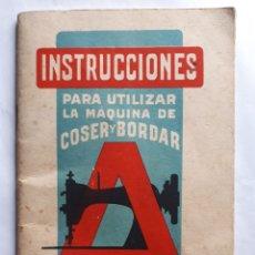 Antigüedades: ALFA DE BOBÍNA CENTRAL, MODELO A. INSTRUCCIONES. EIBAR (ESPAÑA). Lote 194695473