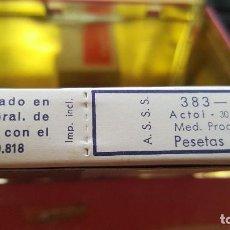 Antigüedades: ANTIGUA CAJA DE ACTOL ANTIINFLAMATORIO ANALGESICO CHEMISCHE FABRIK VON HAYDEN MUNICH. Lote 194706805