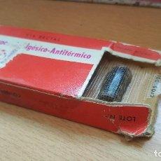 Antigüedades: ANTIGUA CAJA DE MICROSUPOS ANALGESICO ANTITERMICO LAB. ALMIRALL. Lote 194707465