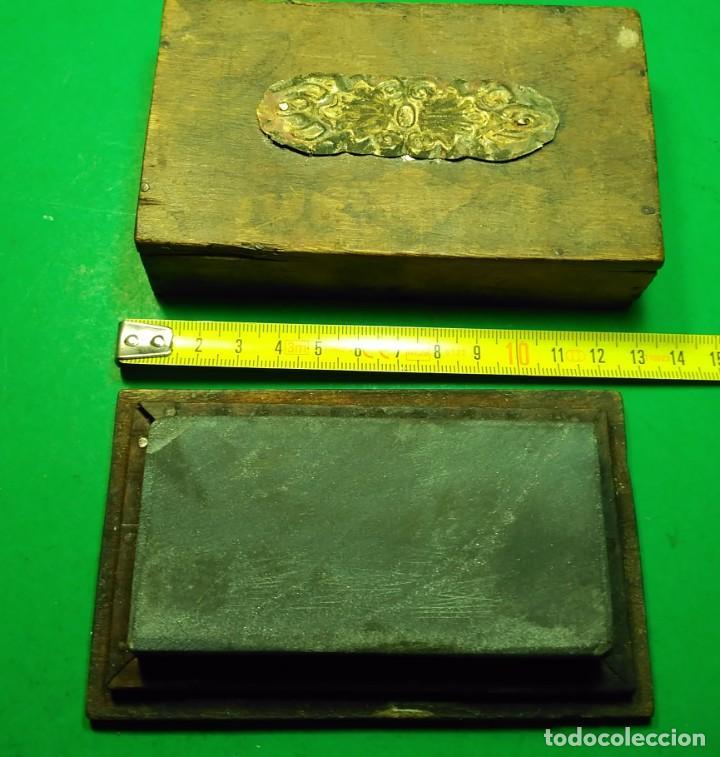 Antigüedades: Piedra de Afilar antigua, muy fina para formones, carpinteria, navajas afeitar, cuchillos calidad - Foto 2 - 194719702