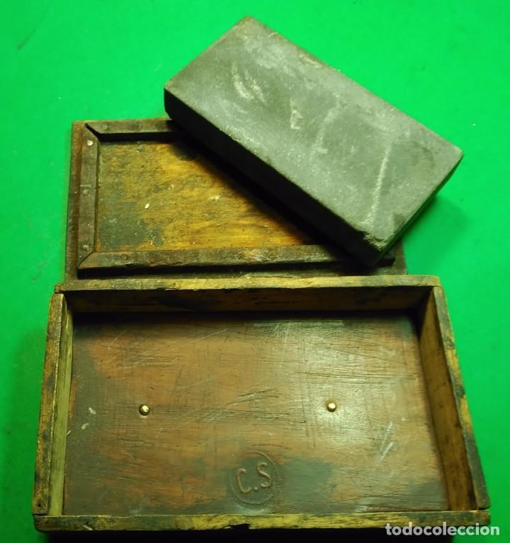 Antigüedades: Piedra de Afilar antigua, muy fina para formones, carpinteria, navajas afeitar, cuchillos calidad - Foto 3 - 194719702