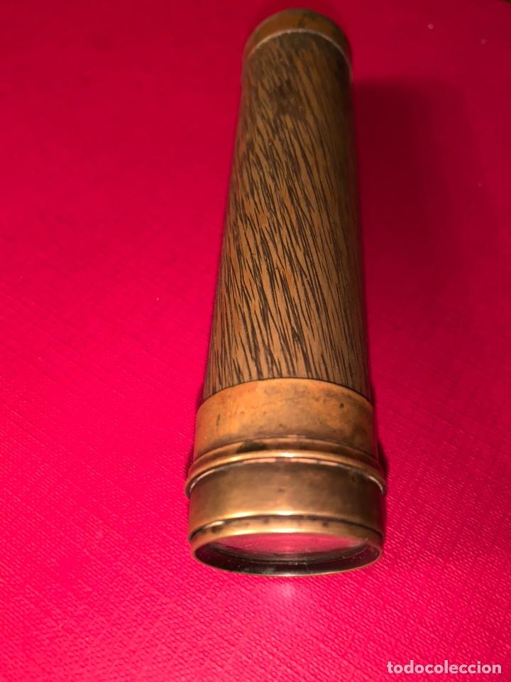 Antigüedades: Antiguo catalejo de bronce de siglo XIX. Magnífica pieza de colección - Foto 2 - 194734582
