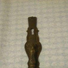 Antigüedades: LLAMADOR ANTIGUO 17,5 CM,DE BRONCE. Lote 194735022