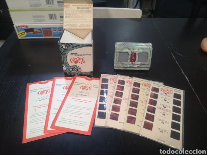 VISOR ESTEREOSCOPICO MARTE CON 7 CARTONES DE DIAPOSITIVAS (Antigüedades - Técnicas - Aparatos de Cine Antiguo - Visores Estereoscópicos Antiguos)