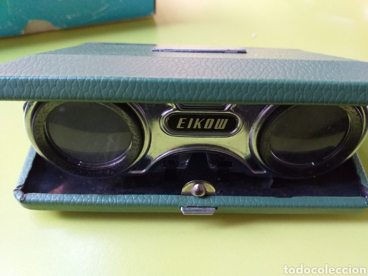 BINOCULOS PLEGABLES EIKOW (Antigüedades - Técnicas - Instrumentos Ópticos - Binoculares Antiguos)