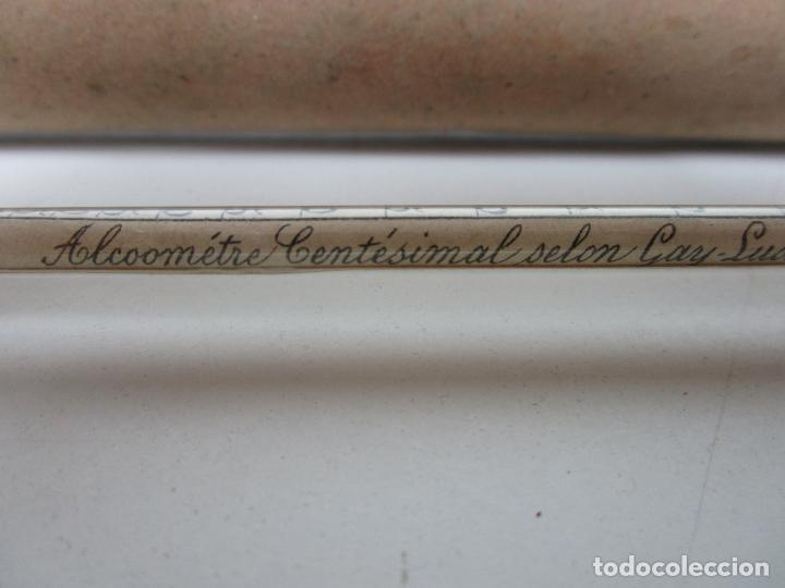 Antigüedades: Alcometro Centésimal - Gay Lussac - para Medir Grados del Vino - con Estuche - S. XIX - Foto 3 - 194754077