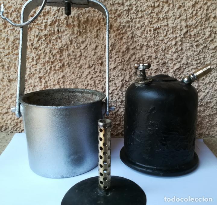 Antigüedades: Decorativa Lámpara de carburo, siglo XIX, - Foto 2 - 194754598