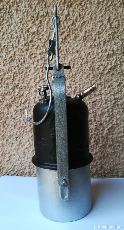 Antigüedades: Decorativa Lámpara de carburo, siglo XIX, - Foto 3 - 194754598