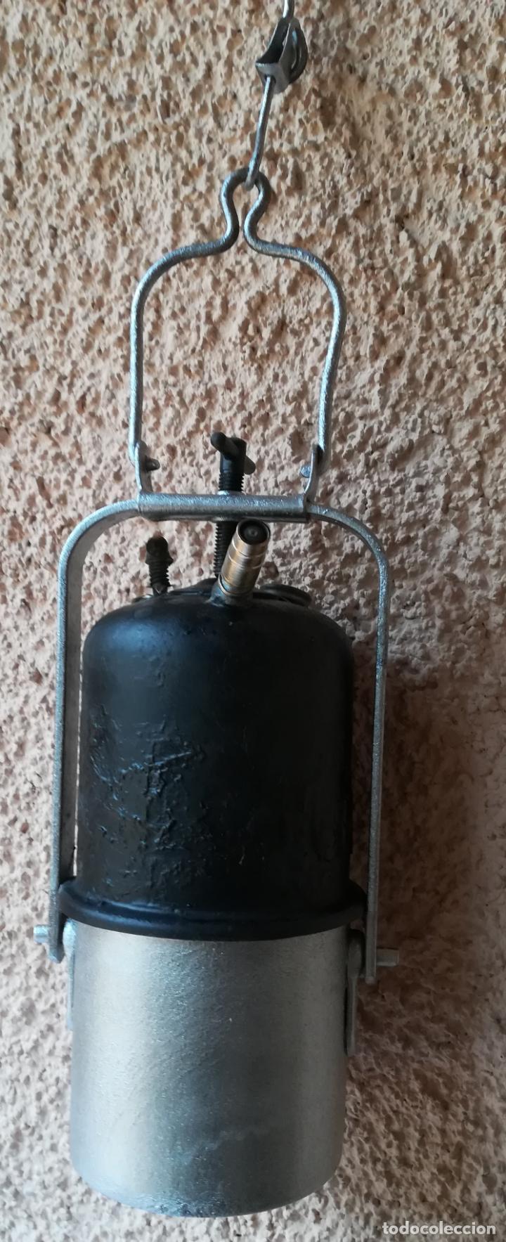 Antigüedades: Decorativa Lámpara de carburo, siglo XIX, - Foto 4 - 194754598