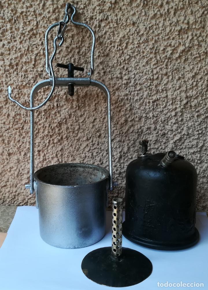 Antigüedades: Decorativa Lámpara de carburo, siglo XIX, - Foto 6 - 194754598