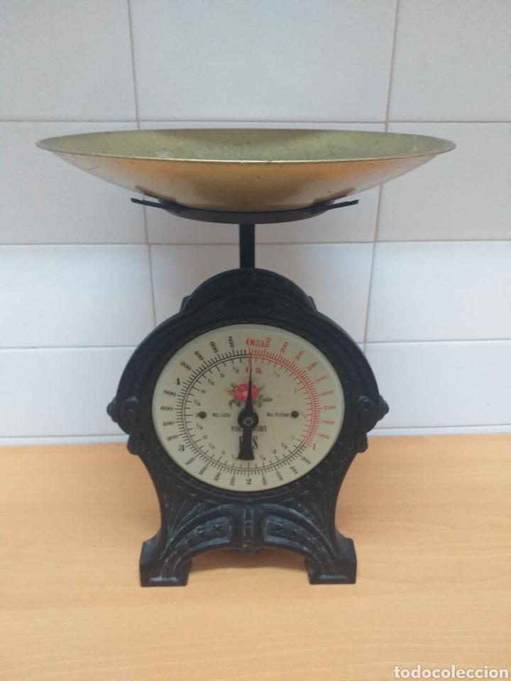 BÁSCULA DE COCINA MARCA EKS MADE IN SWEDEN (Antigüedades - Técnicas - Medidas de Peso - Básculas Antiguas)