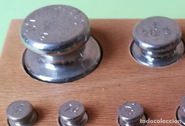 Antigüedades: Conjunto completo pesas para balanzas COBOS - Foto 3 - 194758178
