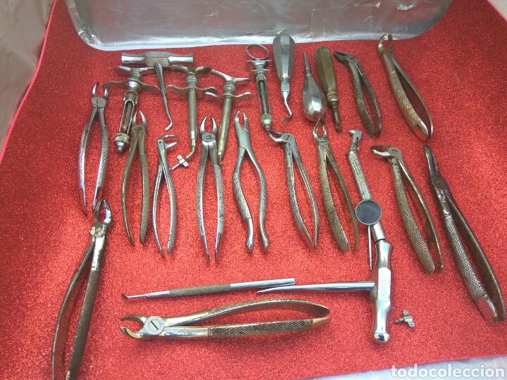 DENTISTA HERRAMIENTAS UTENSILIOS ANTIGUOS LOTE DE 25 UNID (Antigüedades - Técnicas - Herramientas Profesionales - Medicina)