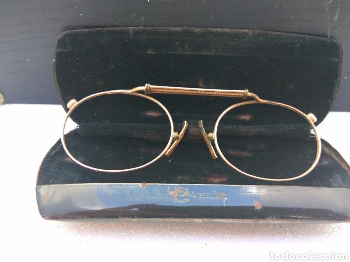 GAFAS ANTIGUAS BAÑO DE ORO CON FUNDA (Antigüedades - Técnicas - Instrumentos Ópticos - Gafas Antiguas)