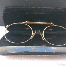 Antigüedades: GAFAS ANTIGUAS BAÑO DE ORO CON FUNDA. Lote 194771331