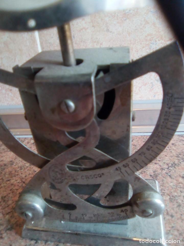 Antigüedades: bascula de pesar cartas marca casco - Foto 2 - 194778406