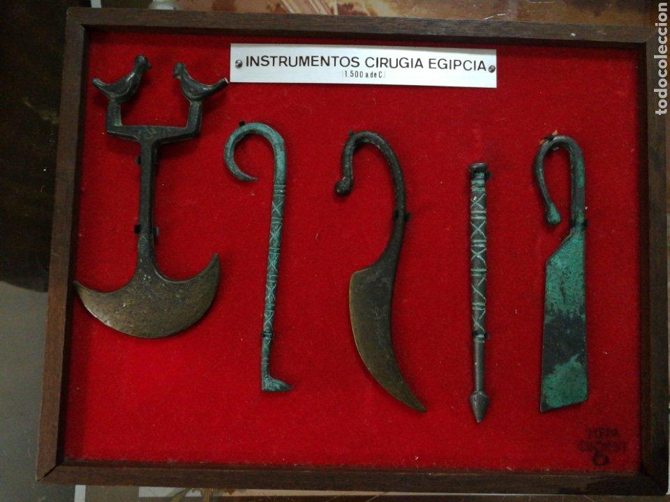 HERAMIENTAS CIRUGIA EGIPCIA. REPLICAS DE BRONCE (Antigüedades - Técnicas - Herramientas Profesionales - Medicina)