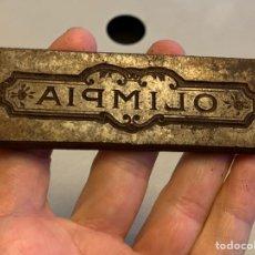 Antigüedades: TROQUEL ( HIERRO) OLIMPIA 9,5X3 CM 204 GRAMOS. Lote 194876001