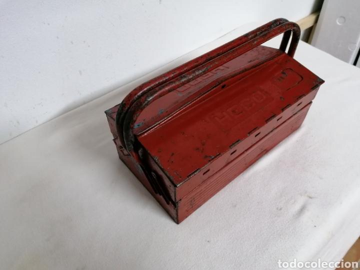 Antigüedades: Caja de herramientas vintage HECO - Foto 2 - 194894313