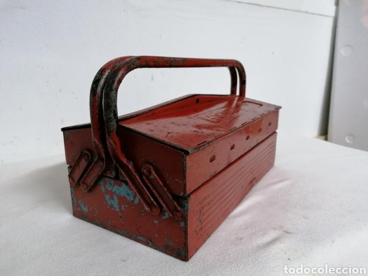 Antigüedades: Caja de herramientas vintage HECO - Foto 3 - 194894313