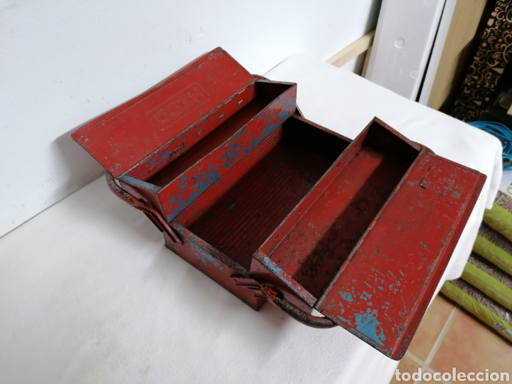 Antigüedades: Caja de herramientas vintage HECO - Foto 4 - 194894313