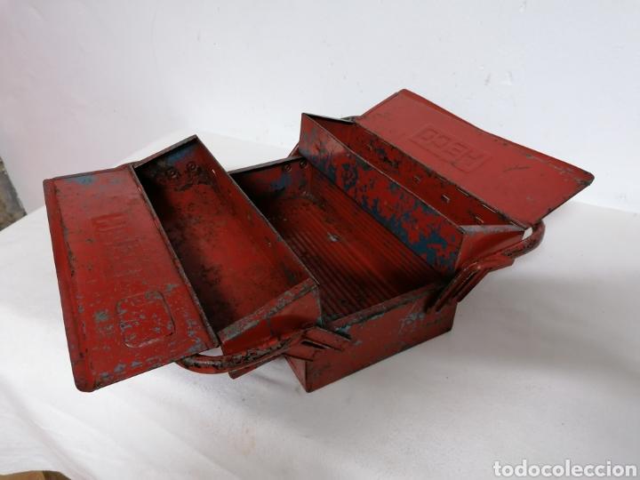 Antigüedades: Caja de herramientas vintage HECO - Foto 5 - 194894313