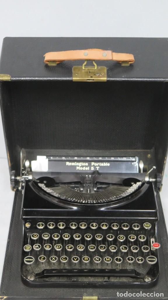 MAQUINA DE ESCRIBIR REMINGTON MODEL 5T (Antigüedades - Técnicas - Máquinas de Escribir Antiguas - Remington)