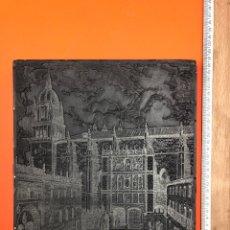Antigüedades: ANTIGUA PLACA DE TORCULO PARA IMPRENTA CON GRABADO DE VISTA DE UNIVERSIDAD DE SALAMANCA, AÑOS 30. Lote 194929330