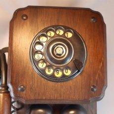 Teléfonos: TELÉFONO DE PARED. MADERA. SIGLO XX.. Lote 194930381