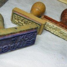 Antigüedades: 4 SELLOS CAUCHO-MADERA--ADEMÁS HASTA 25 % DESCUENTO. (ELCOFREDELABUELO). Lote 194953353