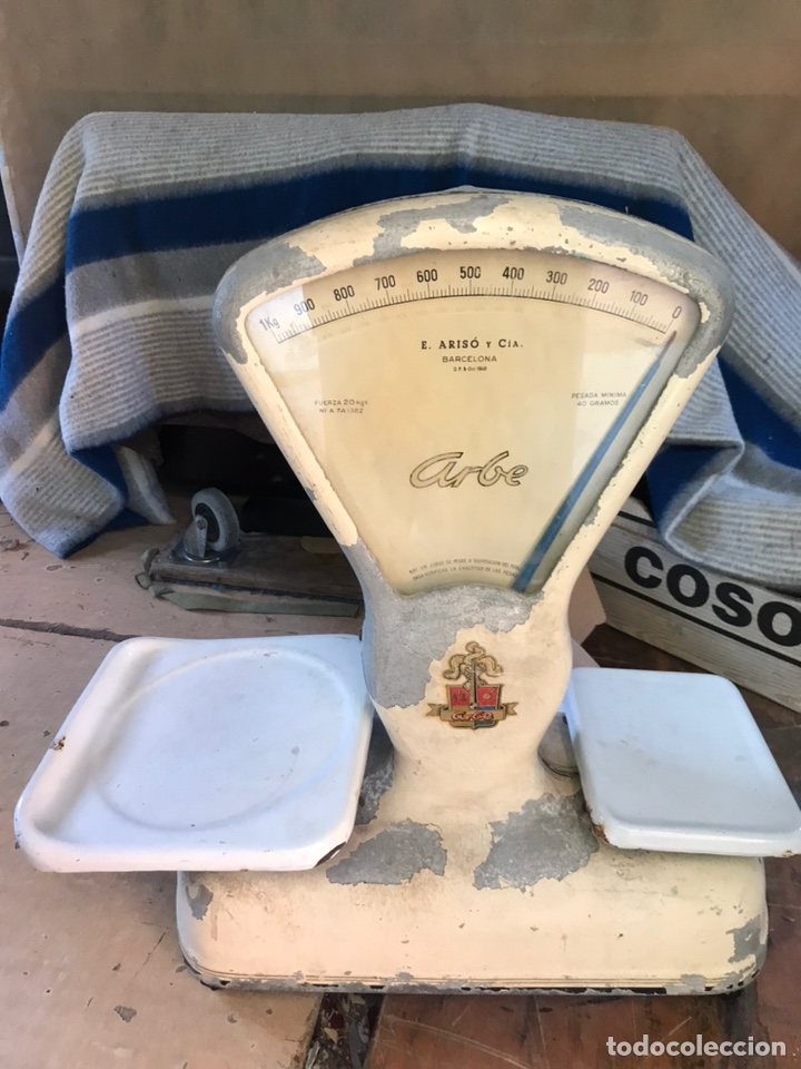 BASCULA DE COMERCIO E.ARISO Y CIA (Antigüedades - Técnicas - Medidas de Peso - Básculas Antiguas)