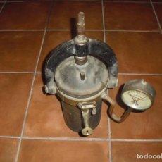 Antigüedades: ANTIGUO AUTOCLAVE ALEMAN DRGM ANTES DE LA II GERRA MUNDIAL ESTERILIADOR FARMACIA DE LATON. Lote 195055185