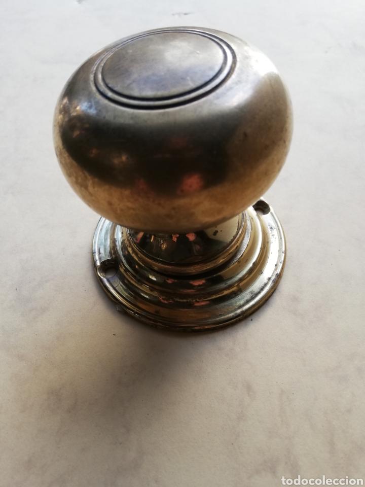 ANTIGUO TIRADOR DE LATÓN (Antigüedades - Técnicas - Cerrajería y Forja - Tiradores Antiguos)