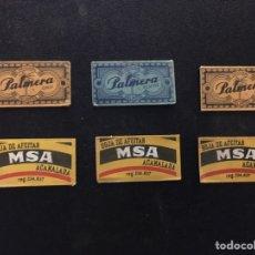 Antigüedades: 6 HOJAS DE AFEITAR MSA Y PALMERA. Lote 195091148