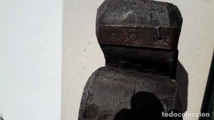 Antigüedades: ANTIGUAS MÉNSULAS DE MADERA TALLADAS A MANO - Foto 8 - 195102985