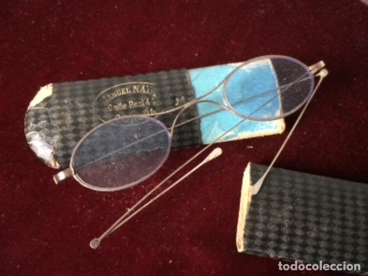 ANTIGUAS GAFAS DE LECTURA TIPO QUEVEDO SIGLO XIX (Antigüedades - Técnicas - Instrumentos Ópticos - Gafas Antiguas)