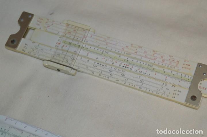 Antigüedades: Preciosas, 3 ANTIGUAS REGLAS de CÁLCULO Germany / 2 marca FABER - CASTELL y otra ARISTO ¡Mira! - Foto 3 - 195138392