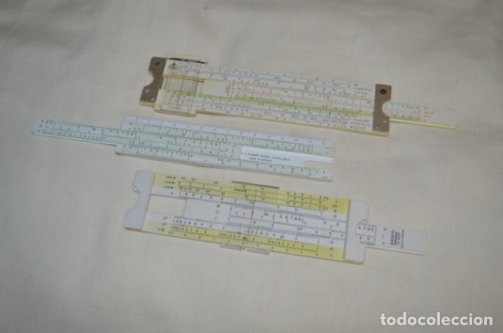 PRECIOSAS, 3 ANTIGUAS REGLAS DE CÁLCULO GERMANY / 2 MARCA FABER - CASTELL Y OTRA ARISTO ¡MIRA! (Antigüedades - Técnicas - Aparatos de Cálculo - Reglas de Cálculo Antiguas)