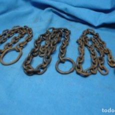 Antigüedades: 3 TRAMOS DE CADENA CON ANILLA. Lote 195138501