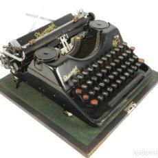 Antigüedades: MAQUINA DE ESCRIBIR RHEINMETALL AÑO 1935 TYPEWRITER SCHREIBMASCHINE MACHINE A ECRIRE. Lote 195146320