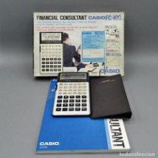 Antigüedades: CALCULADORA CASIO FINANCIAL CONSULTANT FC-100 CON CAJA ORIGINAL, IMANUAL, ESTUCHE. COMO NUEVA!!!. Lote 195153008
