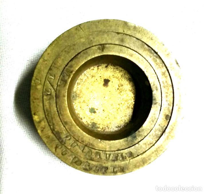 3 PONDERALES DE VASO (Antigüedades - Técnicas - Medidas de Peso - Ponderales Antiguos)