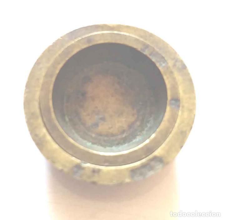 2 PONDERALES DE VASO (Antigüedades - Técnicas - Medidas de Peso - Ponderales Antiguos)